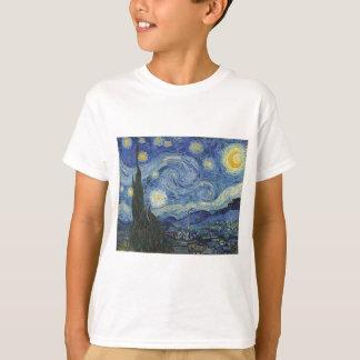 Camiseta Vincent van Gogh   a noite estrelado, em junho de
