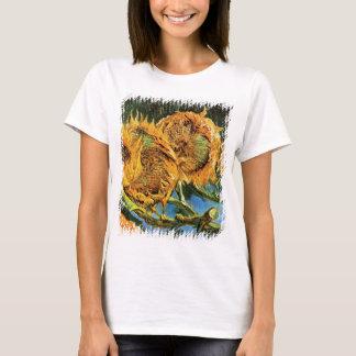 Camiseta Vincent van Gogh - belas artes cortadas de quatro