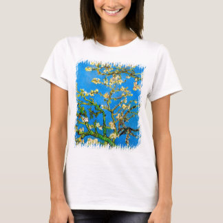 Camiseta Vincent van Gogh - belas artes de florescência da
