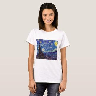 Camiseta VINCENT VAN GOGH - noite estrelado 1889
