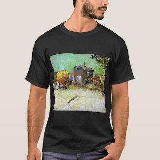 Camiseta Vincent van Gogh o acampamento aciganado das
