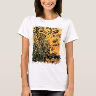 Camiseta Vincent van Gogh - pinheiros contra um céu