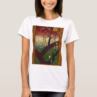 Camiseta Vincent van Gogh que floresce o trabalho de arte