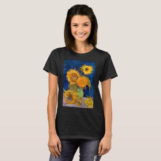 Camiseta Vincent van Gogh - seis t-shirt dos girassóis