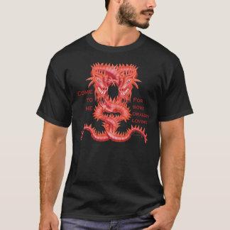 Camiseta Vindo para dragão loving - preto