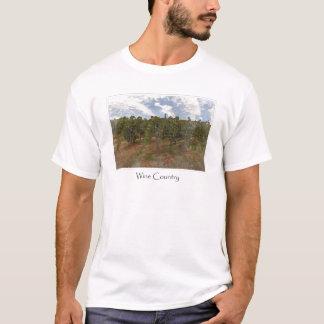 Camiseta Vinhedo da uva da região vinícola para o tema do