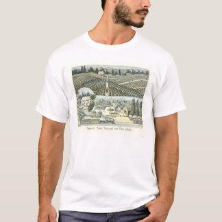 Camiseta Vinhedo de Nouveau Medoc e adegas de vinho
