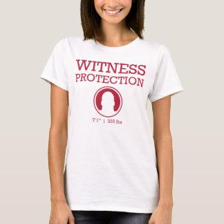 Camiseta Vinho da proteção da testemunha