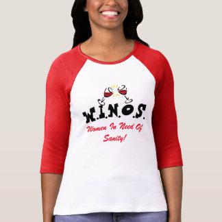 Camiseta Vinho para a sanidade! Vermelho