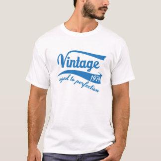 Camiseta Vintage 1976 envelhecido ao presente de