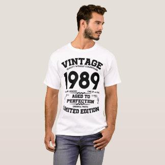 CAMISETA VINTAGE 1989 ENVELHECIDO A EDIÇÃO LIMITADA DA