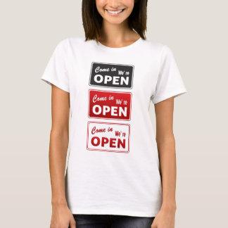 Camiseta Vintage aberto/sinais fechados