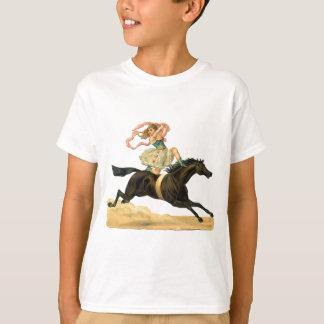 Camiseta Vintage acrobat girl on a horse