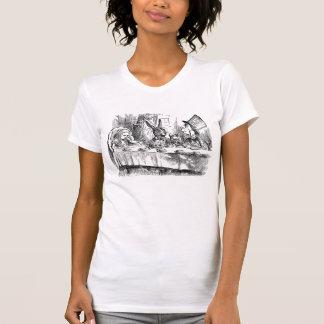 Camiseta Vintage Alice no chá louco do coelho do Hatter do