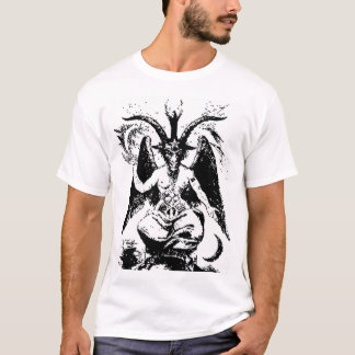 Camiseta Vintage Baphomet preto