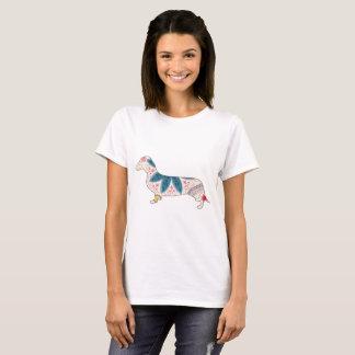 Camiseta Vintage básico do dachshund do t-shirt das