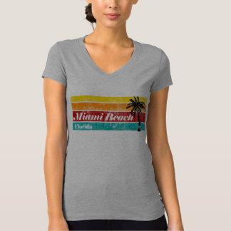 Camiseta Vintage bonito Miami Beach Florida do por do sol