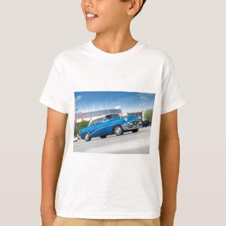Camiseta Vintage clássico azul do carro velho do Special
