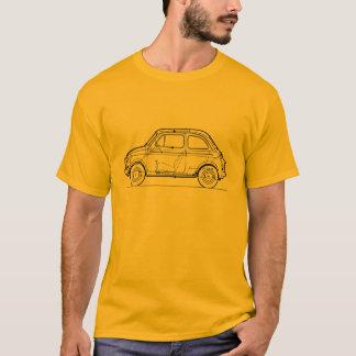 Camiseta Vintage clássico do carro de Fiat 500 que caminha