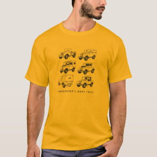 Camiseta Vintage clássico do carro de Land Rover Muti que