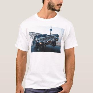 Camiseta Vintage do cavaleiro do carro condução automotriz