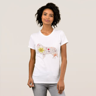 Camiseta Vintage do Collie do t-shirt do pescoço de grupo