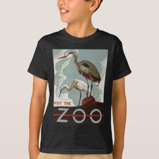 Camiseta Vintage do jardim zoológico da visita