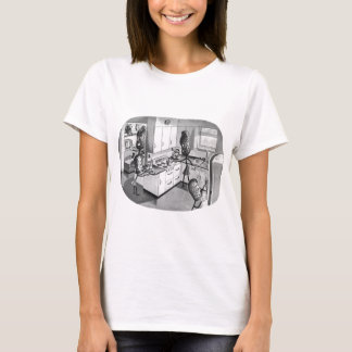 Camiseta Vintage do kitsch a família moderna do amendoim