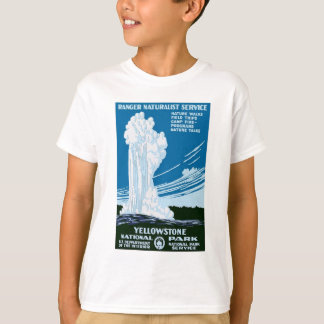 Camiseta Vintage do parque nacional de Yellowstone