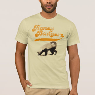Camiseta Vintage do texugo de mel da equipe