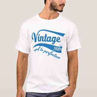 Camiseta Vintage envelhecido ao aniversário 1984 do tshirt