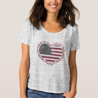 Camiseta Vintage eu amo o coração dos EUA