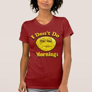 Camiseta Vintage eu não faço manhãs