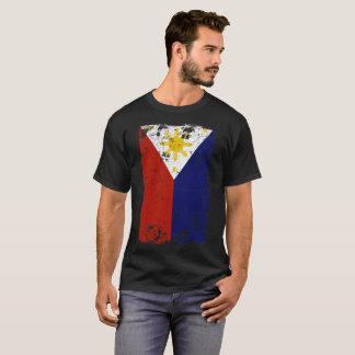 Camiseta Vintage filipino bandeira afligida de Filipinas