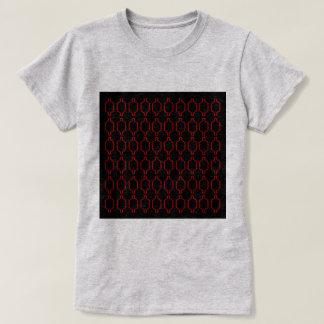 Camiseta Vintage luxuoso de Marrocos do ethno: Vermelho com