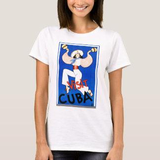 Camiseta Vintage retro de Cuba da visita