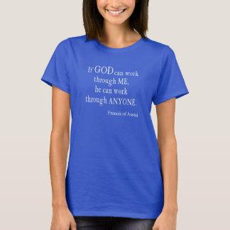Camiseta Vintage St Francis de citações religiosas do deus