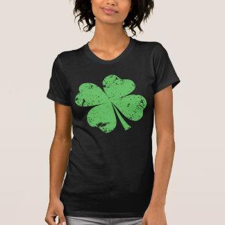 """Camiseta """"Vintage"""" trevo de 4 folhas"""