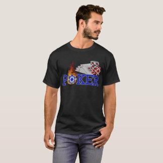 Camiseta Vinte-e-um legal do jogo de cartas do casino de