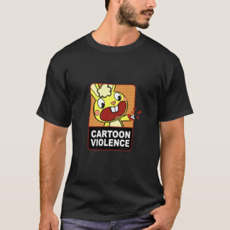 Camiseta Violência dos desenhos animados