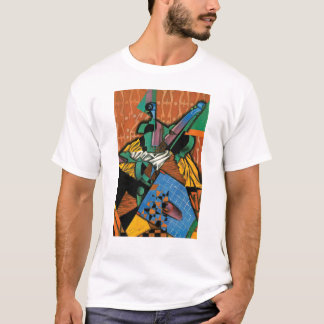 Camiseta Violino e tabuleiro de damas