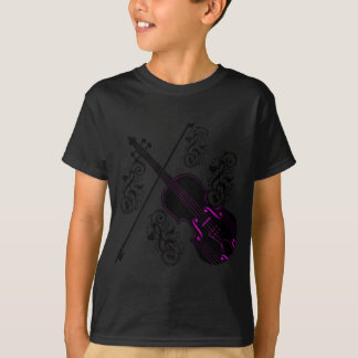 Camiseta Violino, love_ de balanço