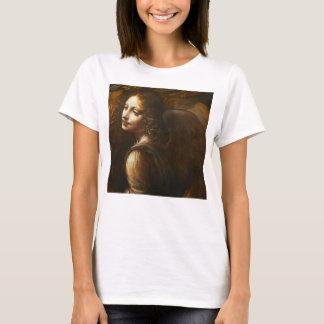 Camiseta Virgin de Leonardo da Vinci do anjo das rochas