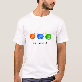 Camiseta Vírus de computador, obtidos o vírus