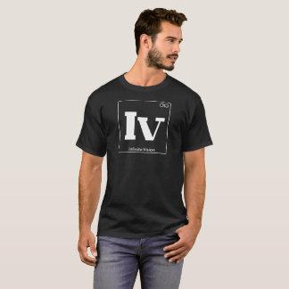 Camiseta Visão infinita branca da mesa periódica