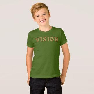 Camiseta Visão você aperfeiçoa o design verde-oliva do