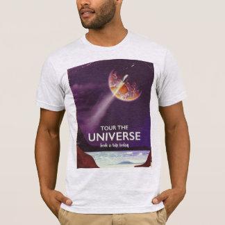 Camiseta Visite o poster da ficção científica do vintage do