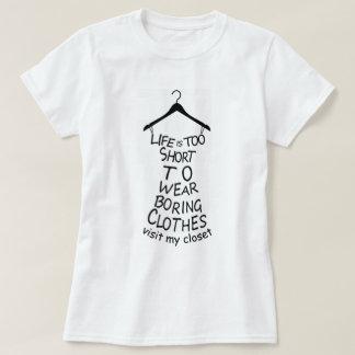 Camiseta Visite o t-shirt branco das minhas mulheres do