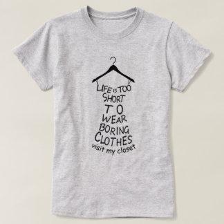 Camiseta Visite o t-shirt cinzento das minhas mulheres do