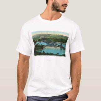 Camiseta Vista aérea da estrada de ferro da central de